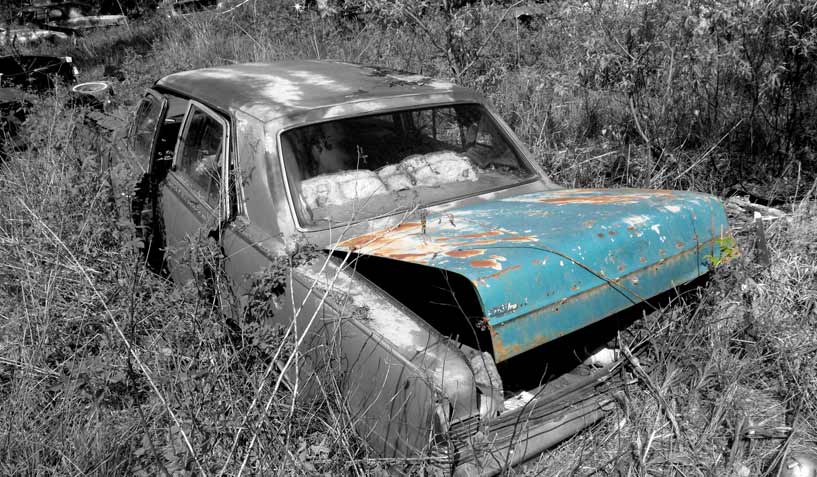 AMC Rambler Ambassador car on which the trunk was taken and is available for the creation of an industrial table or artwork.
