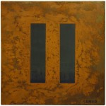 Rust painting 10: artwork made using oxidation techniques on steel by AMER.