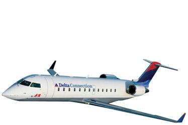 Bombardier CRJ100 airplane.