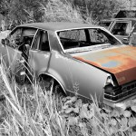 1981 Pontiac Lemans car on which the trunk was taken and is available for the creation of an industrial table or artwork.