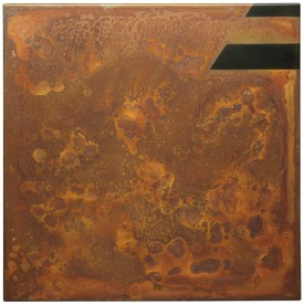Rust painting 19: artwork made using oxidation techniques on steel by AMER.