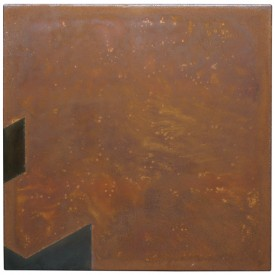 Rust painting 22: artwork made using oxidation techniques on steel by AMER.