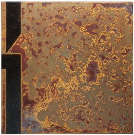 Rust painting 26: artwork made using oxidation techniques on steel by AMER.