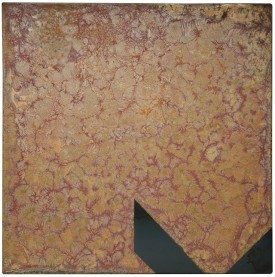 Rust painting 31: artwork made using oxidation techniques on steel by AMER.