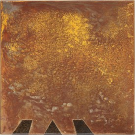 Rust painting Lt 32: artwork made using oxidation techniques on steel by AMER.