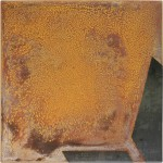 Rust painting Lt 34: artwork made using oxidation techniques on steel by AMER.