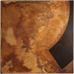 Rust painting Lt 38: artwork made using oxidation techniques on steel by AMER.